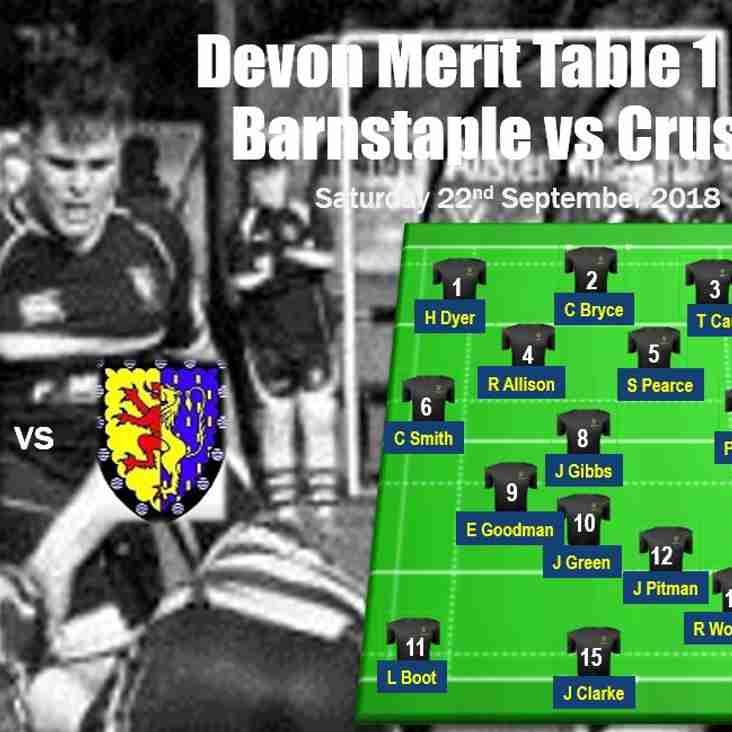 This Saturday Crusaders travel to Barnstaple - team selection