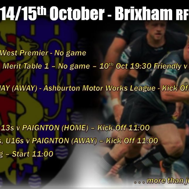 Where are Brixham RFC playing? - Your rugby fixtures for this weekend