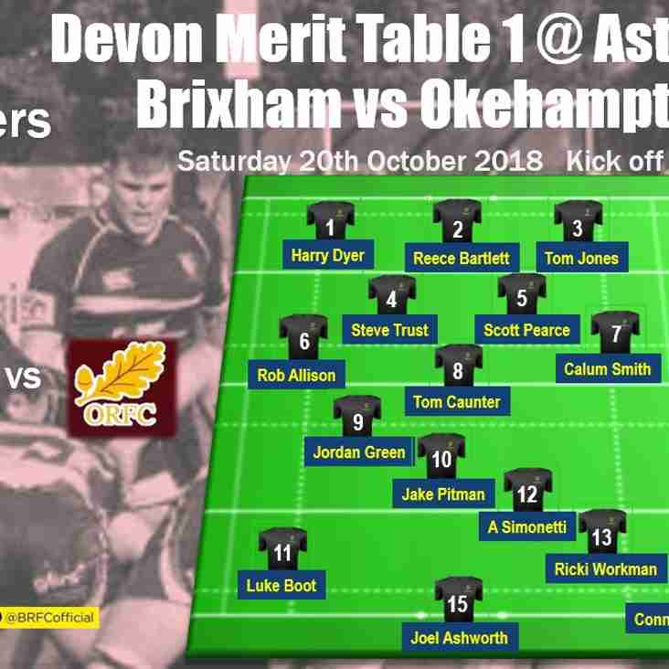 Today's Devon Merit Table action - Crusaders host Okehampton II at Astley Park - your team selection