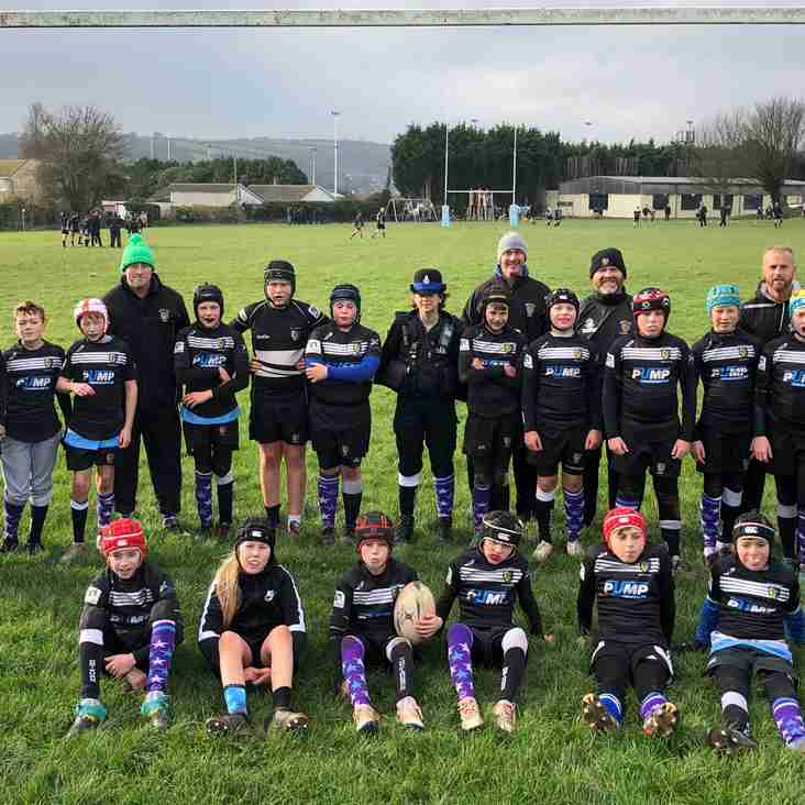 Sunday - Under 12s from Brixham Youth and Brixham Police support Anti-Bullying Alliance campaign