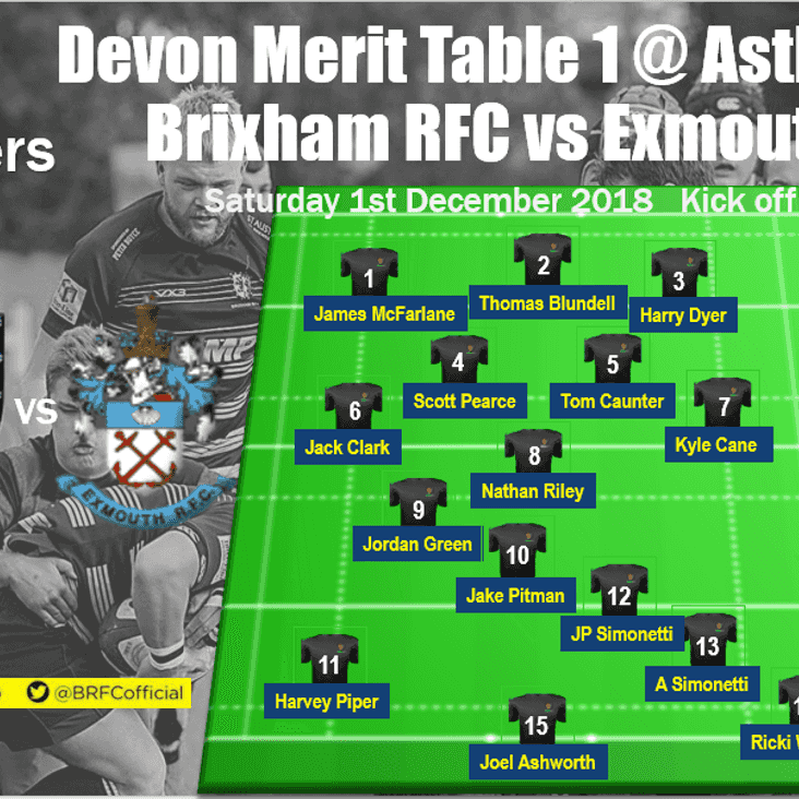Devon Merit Table action - Crusaders host Exmouth II at Astley Park - your team selection + Update