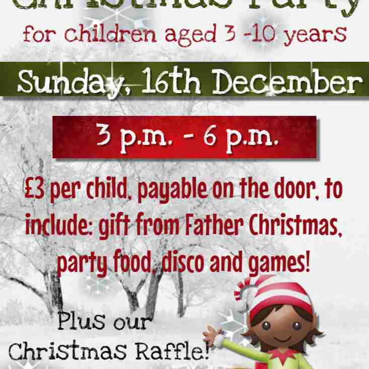 Stop Press: Father Christmas schedules a visit to the Club - It's kiddies' Christmas Party time!