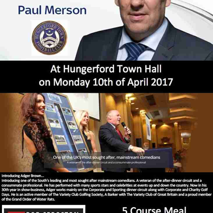 Sportsmans Dinner at Hungerford Town Hall