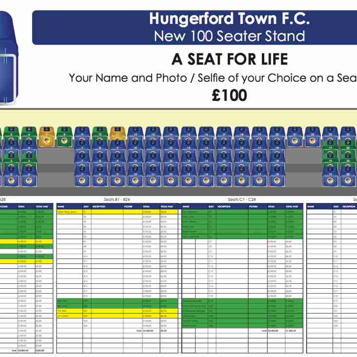 New stand - Reserve a Seat for life'