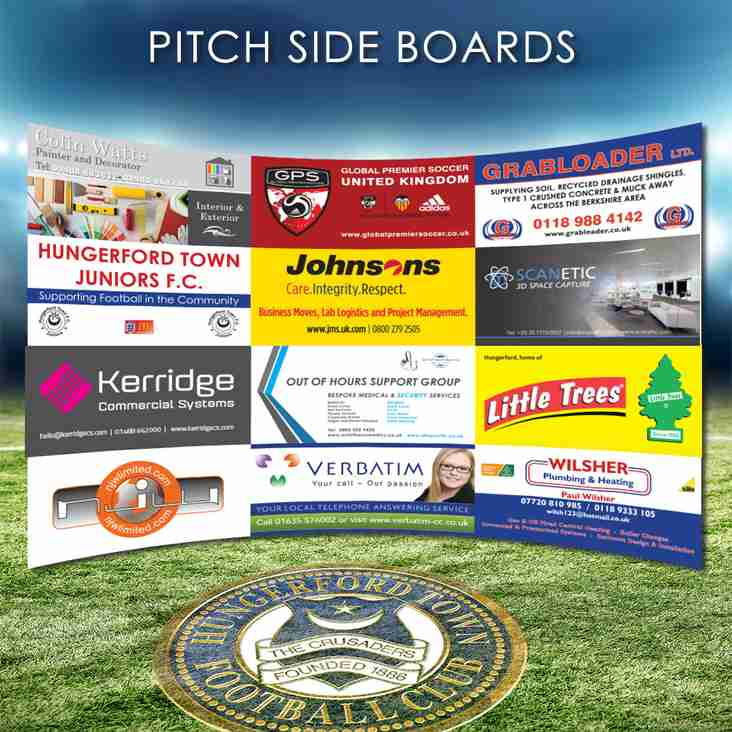 New pitch side advertising Boards