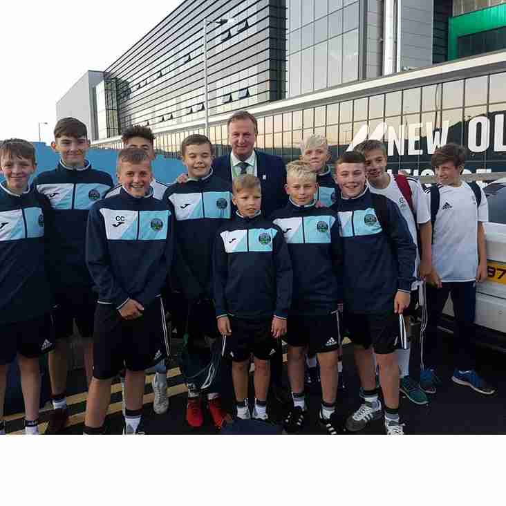 Greenisland lads meet with N.I. Manager