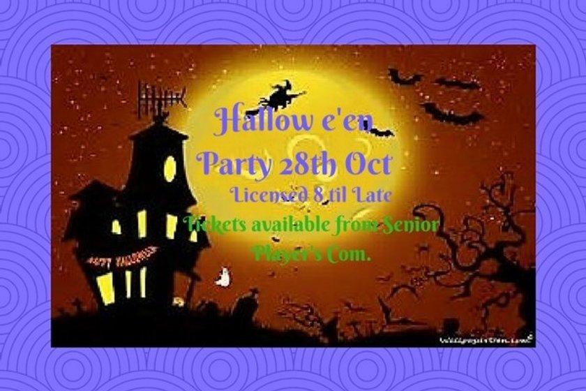 Hallow E'en Fancy Dress Party Oct 28th - Few tickets left