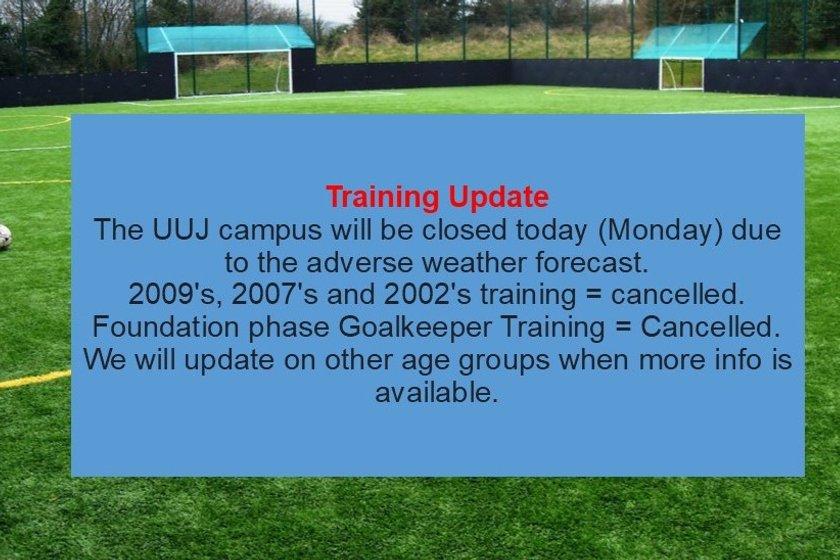 WEATHER WARNING - Read Update