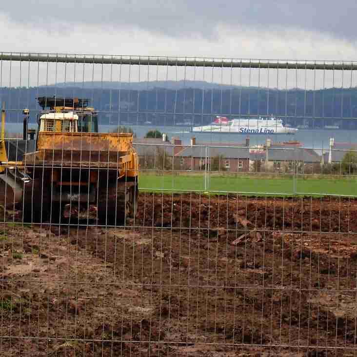 Work well underway at Greenisland Pitches