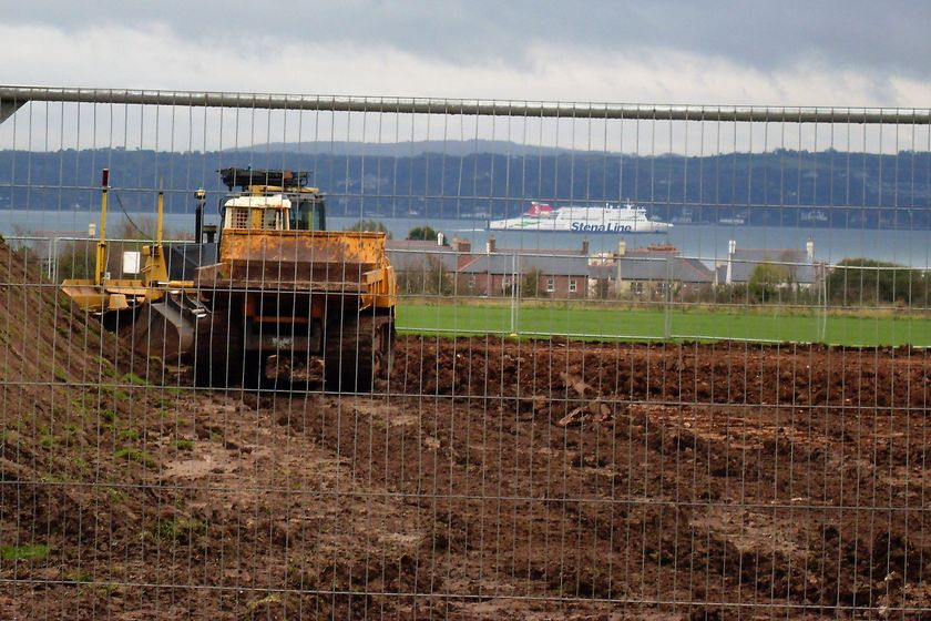 Work well underway at Greenisland Pitches