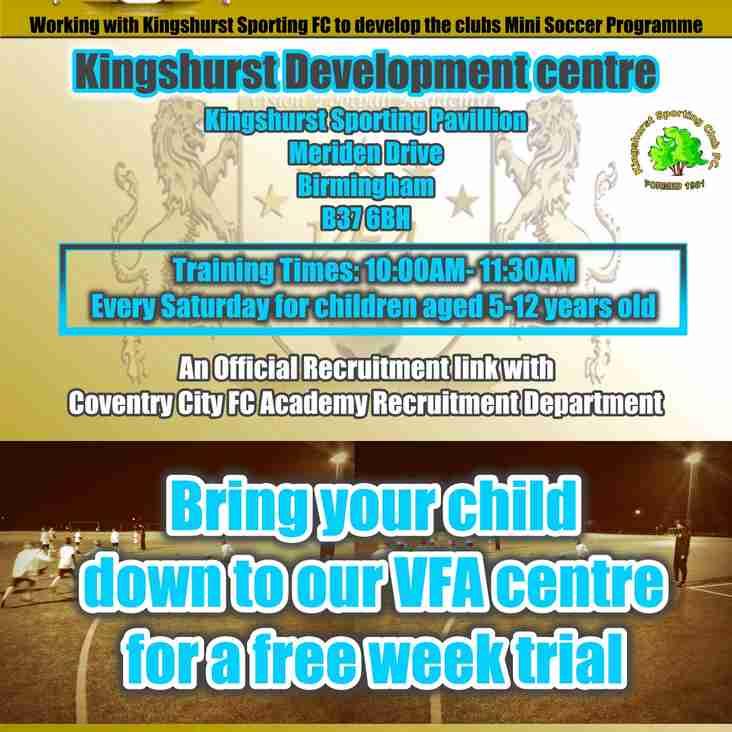 New VFA Centre in Kinghahurst opens Saturday 8th September