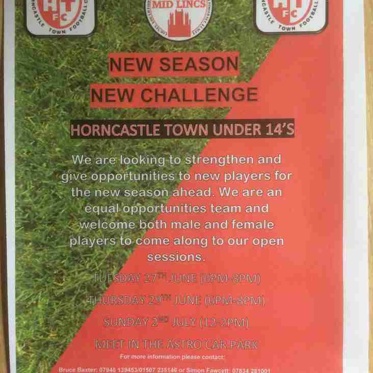 UNDER 14's PLAYERS WANTED!!!