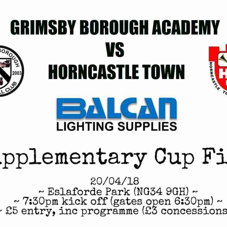SUPPLEMENTARY CUP FINAL TOMORROW!!!!