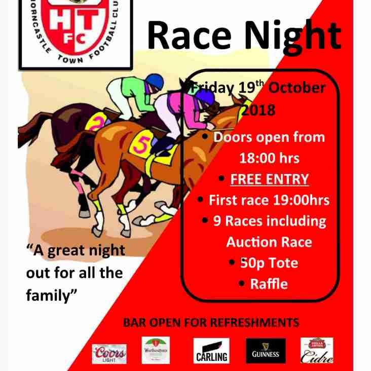 HTFC RACE NIGHT!!!!!