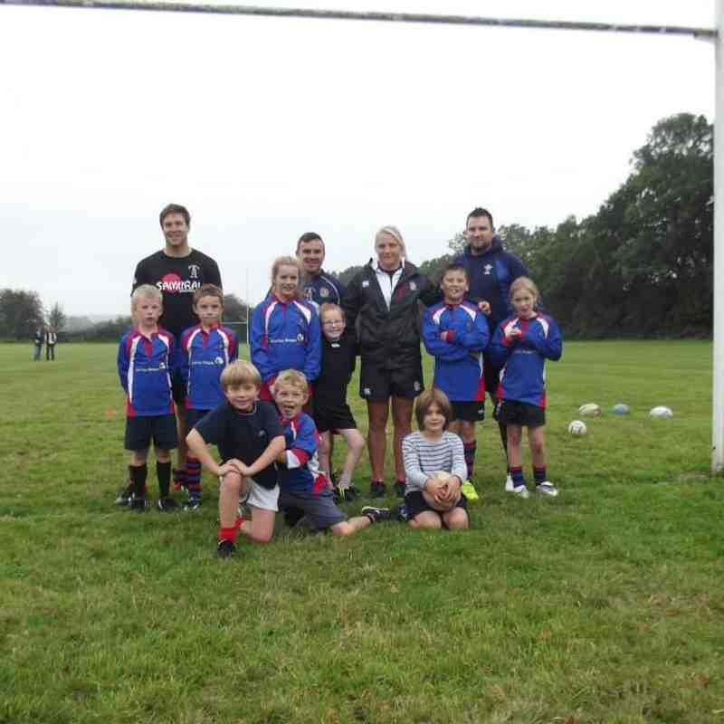 Youth Rugby Training With England World Cup Winner Ceri Large