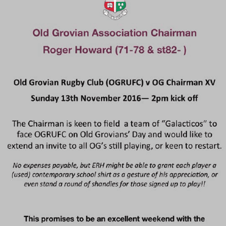 Old Grovians Association Rugby