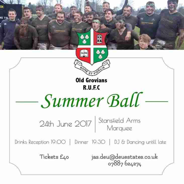 Old Grovians Annual Summer Ball