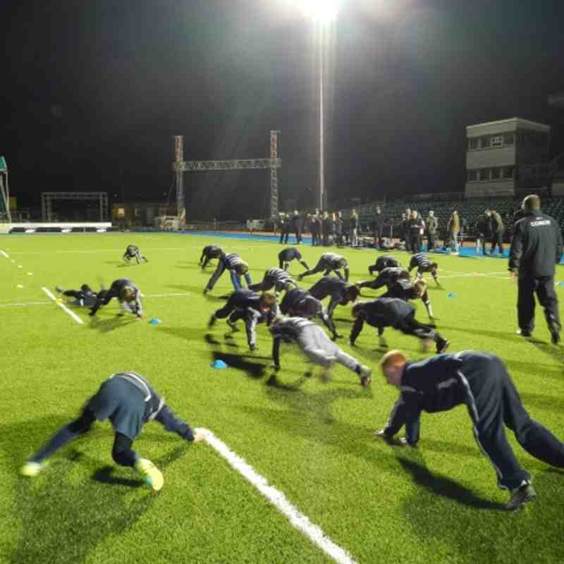U11's at Allianz Park pre opening