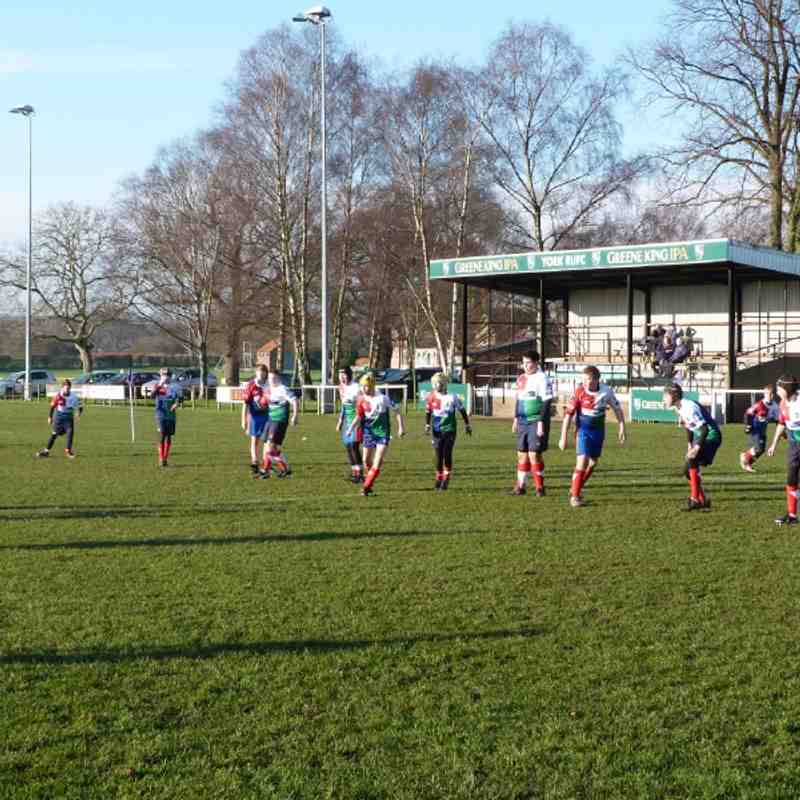 under 12's Yorkshire Cup Quarter Final
