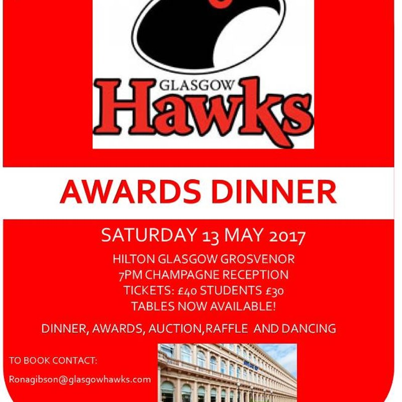 HAWKS END OF SEASON DINNER AND AWARDS NIGHT
