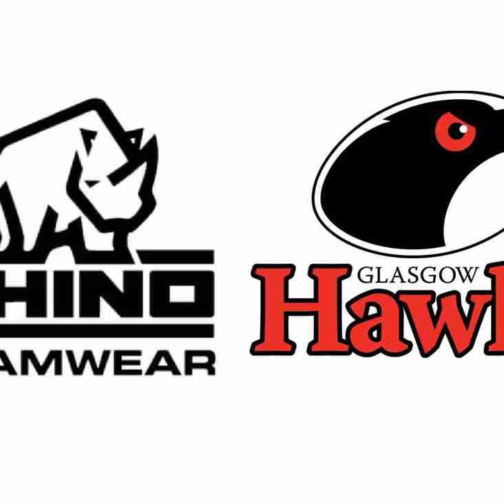 Rhino announced as Hawks Official Teamwear Partner