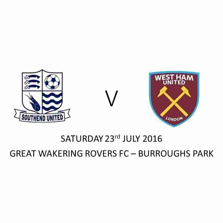 Hammers to visit Rovers
