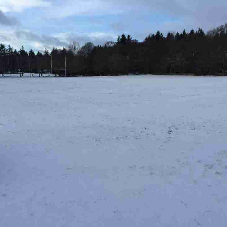 P4 - P7 Training Cancelled Sat 02nd Feb