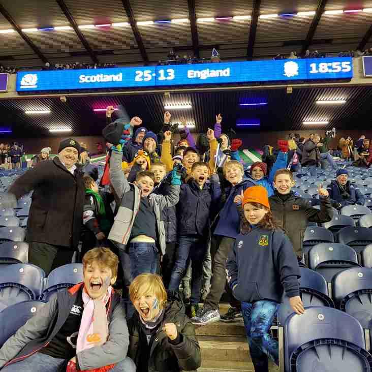 Aberdeen Wanderers Youth RFC attend Historic Calcutta Cup Match