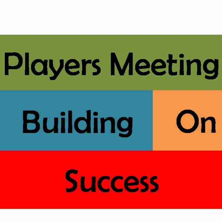 PLAYERS' MEETING & DINNER ON 27TH FEBRUARY