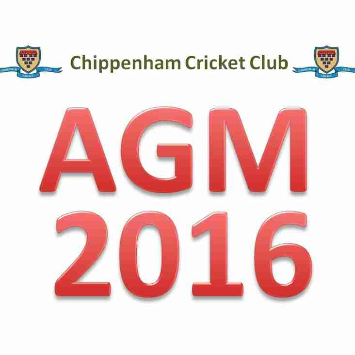 CRICKET CLUB AGM 2016