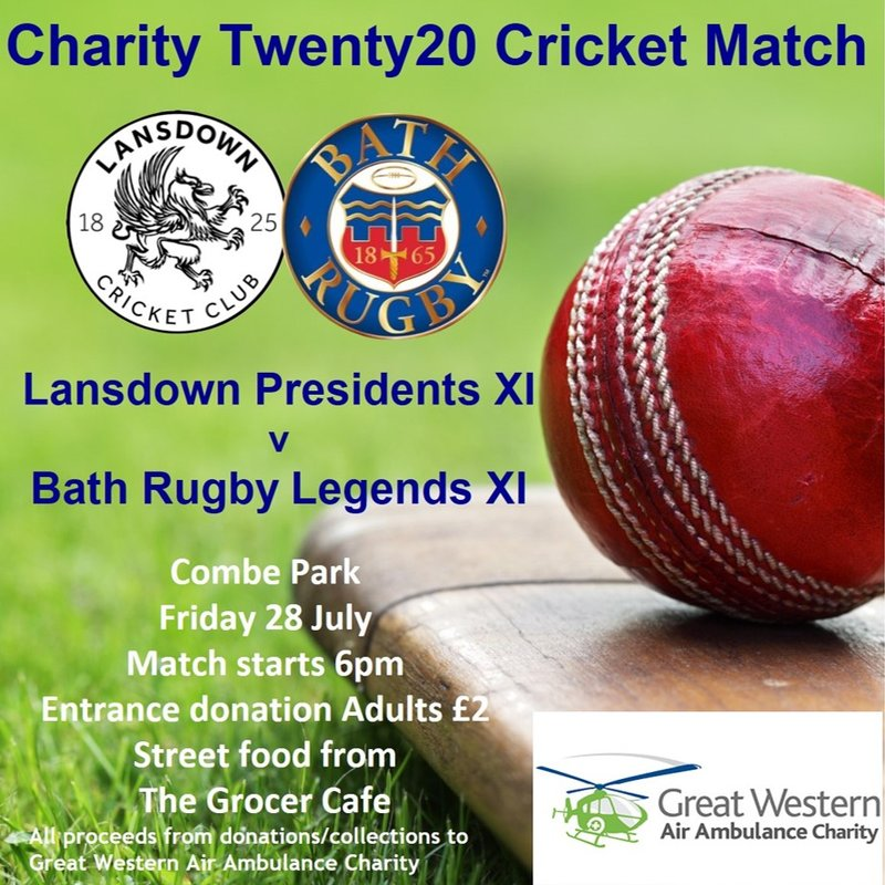 Cricket Week includes MCC and Bath Rugby Legends