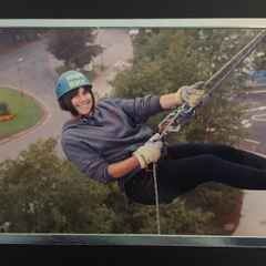 Sarah's Abseil Goes Down A Treat
