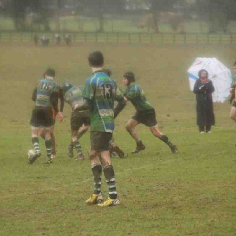 U15's Vs Beaconsfield (in the cold and hard rain !)
