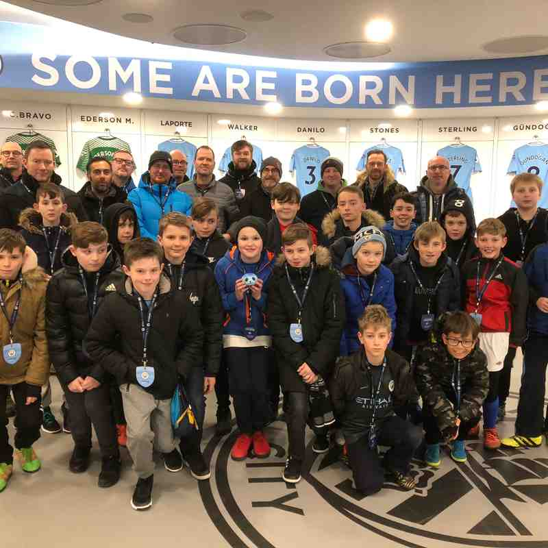 U11's Manchester City Stadium Tour (03/2018)
