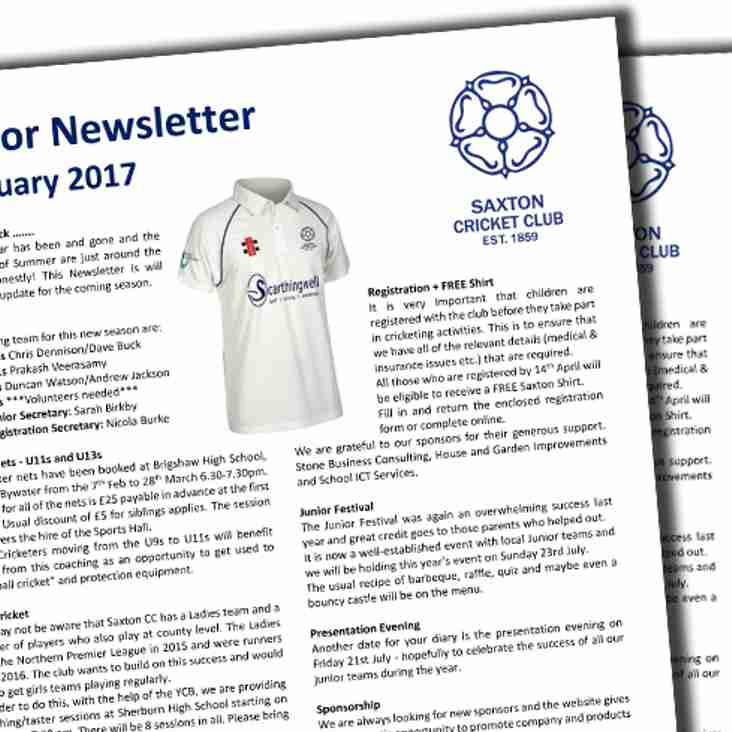 Junior Newsletter