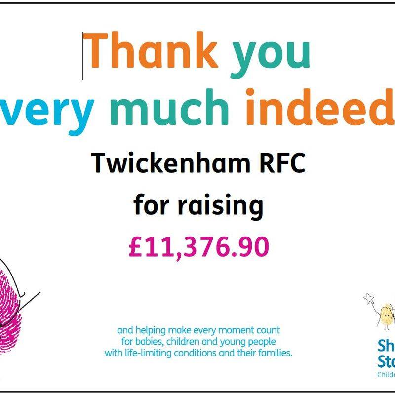 A Thank from Shooting Star Chase to Twickenham RFC