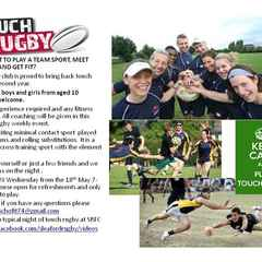 TOUCH RUGBY STARTING 18TH MAY 7PM