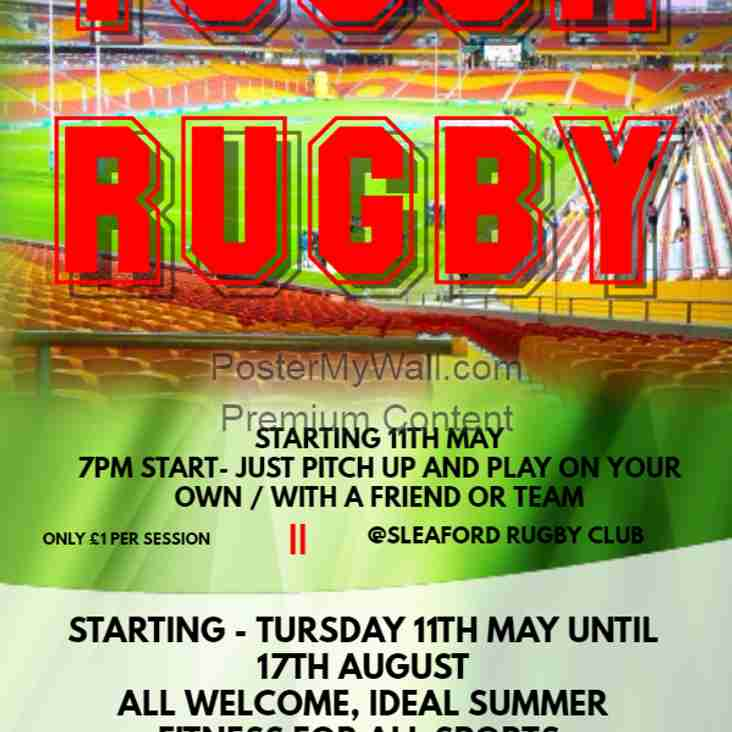 SUMMER TOUCH RUGBY STARTS THURSDAY 11TH MAY