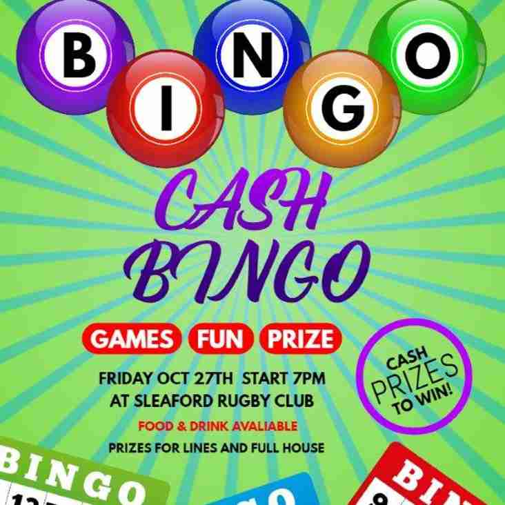 BINGO NIGHT 27th Oct
