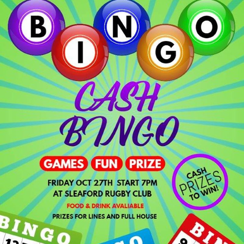 BINGO NIGHT 27th Oct