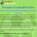FOOTBALL PARTIES AT BILLINGE FC