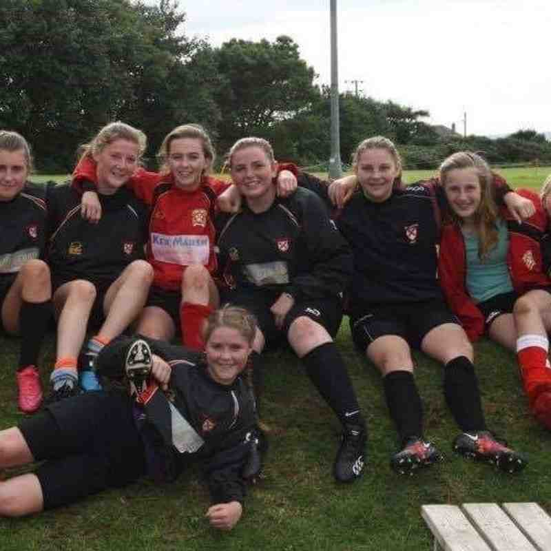 St Austell Girls at Camborne pitch up and play