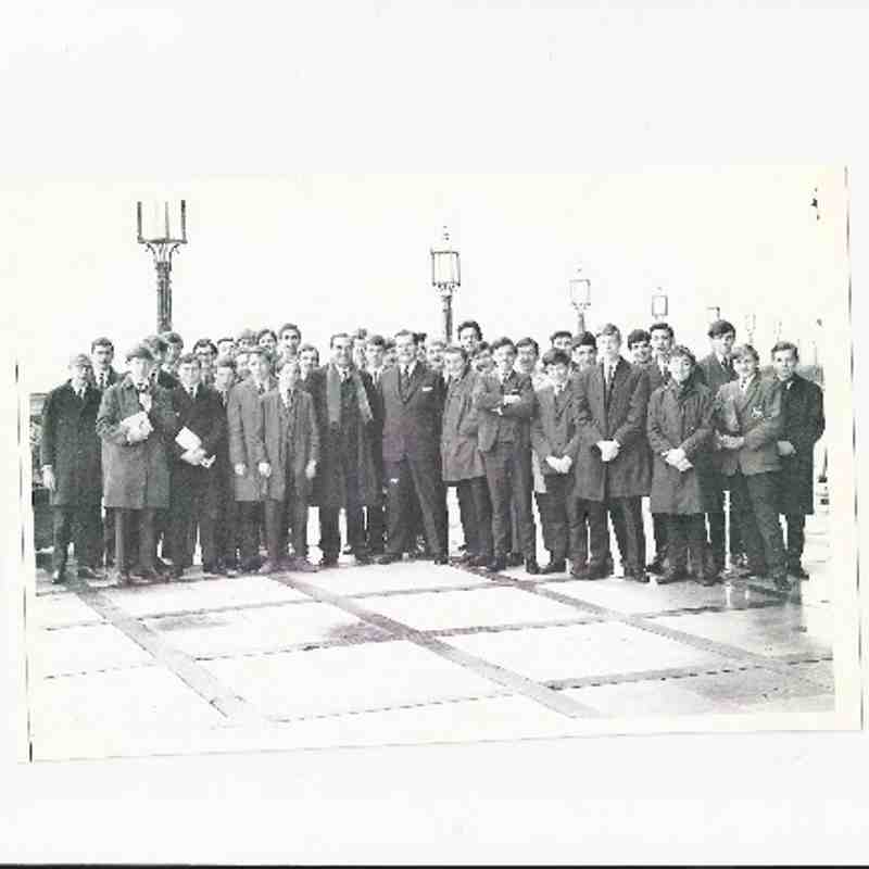 1965 trip to the Houses of Parliament, with Cecil Pocock next to him is the MP who showed us round.I remember a few names. Third from the left holding his lapel is Peter King. I am at the front with my arms folded and on the right of the picture are John