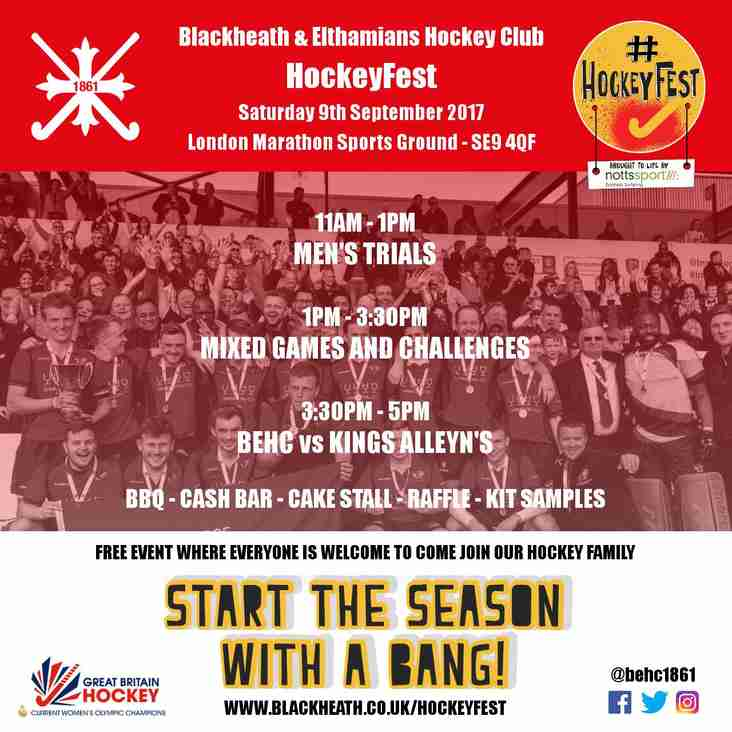 #HockeyFest 2017 IS COMING! SATURDAY 9th SEPTEMBER.
