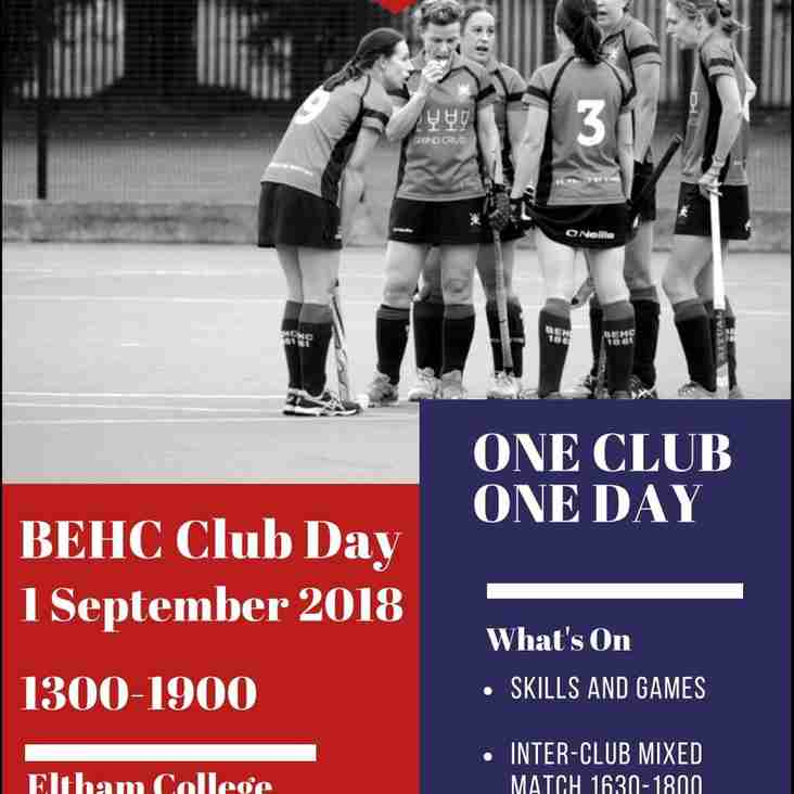 HOCKEYFEST - CLUB DAY: Saturday 1st September - 1:00pm onwards