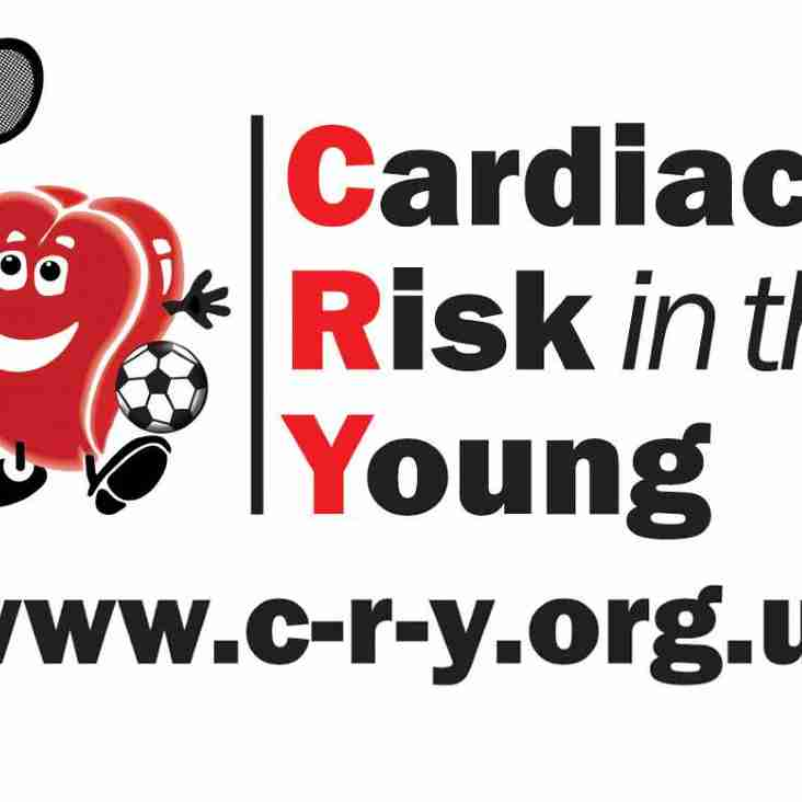 FREE CRY CARDIAC TESTING FOR 14 TO 35 YR OLDS:  SAT 15th JUNE 2019