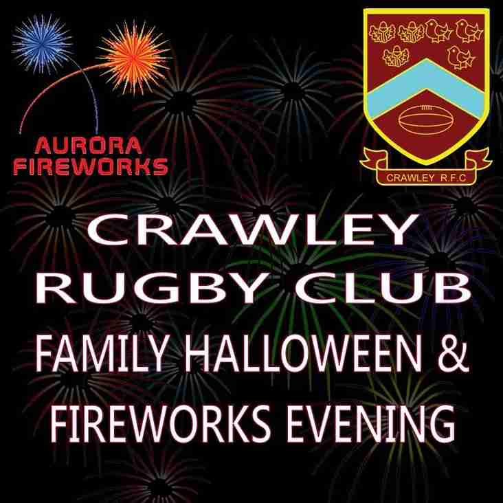Crawley RFC Halloween & Family Fireworks Evening 28/10/16