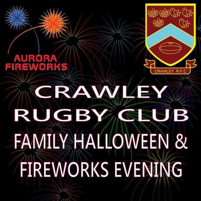 Crawley RFC Halloween & Family Fireworks Evening 28/10/16