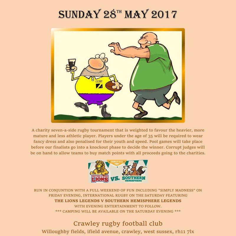 Fatboy 7s Returns To Crawley RFC!
