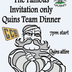 World famous Quins Dinner